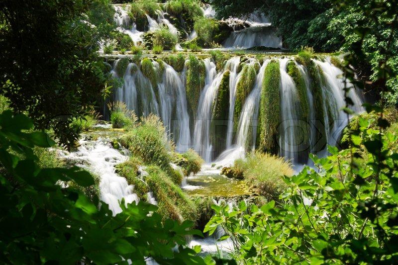 Skradinski Buk World Famous Waterfall On The Krka River