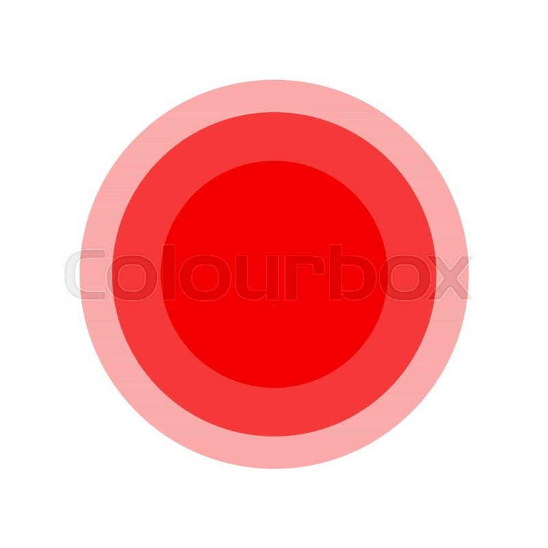 Symbol Of Pain Red Fading Circles Illustration Stock Vector