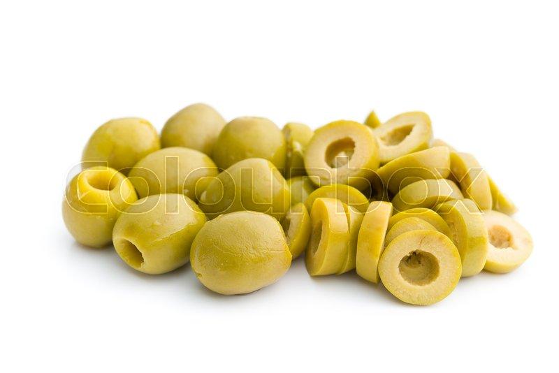 sliced green olives - 574×430