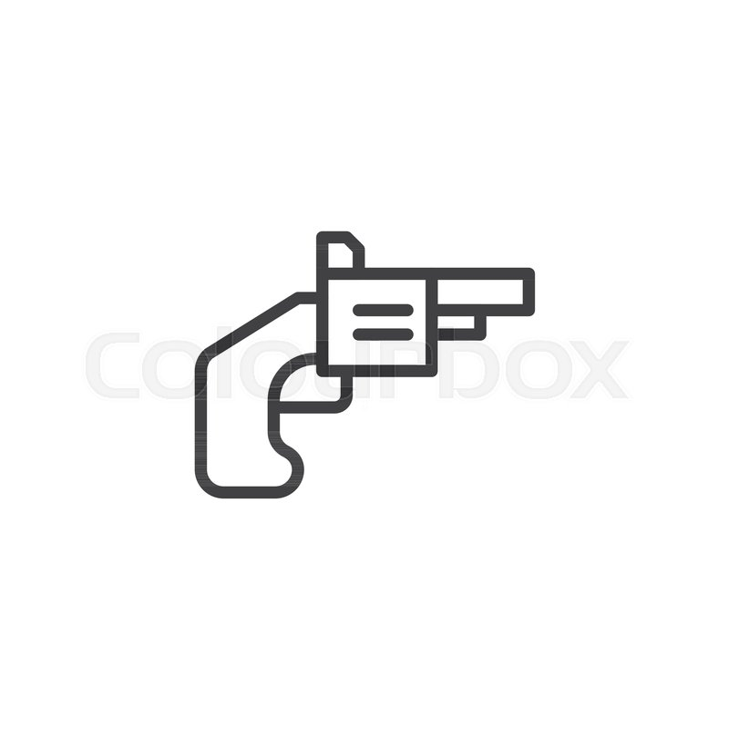 Gun Game Outline Icon Linear Style Sign For Mobile Concept And Web - Game outline