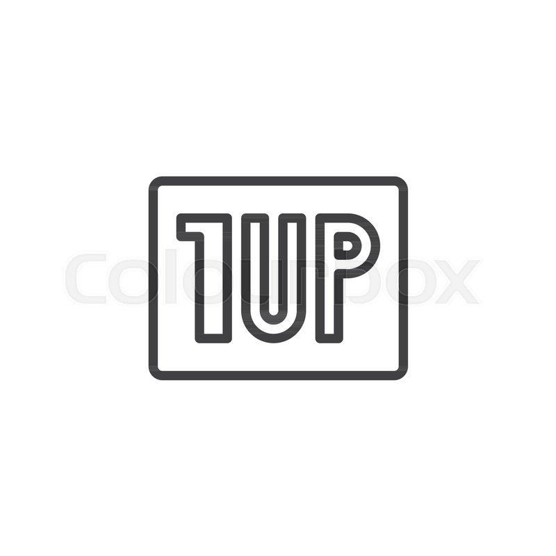 Video Game Level Up Outline Icon Linear Style Sign For Mobile - Game outline