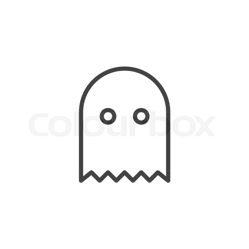 Ghost Game Outline Icon Linear Style Sign For Mobile Concept And - Game outline