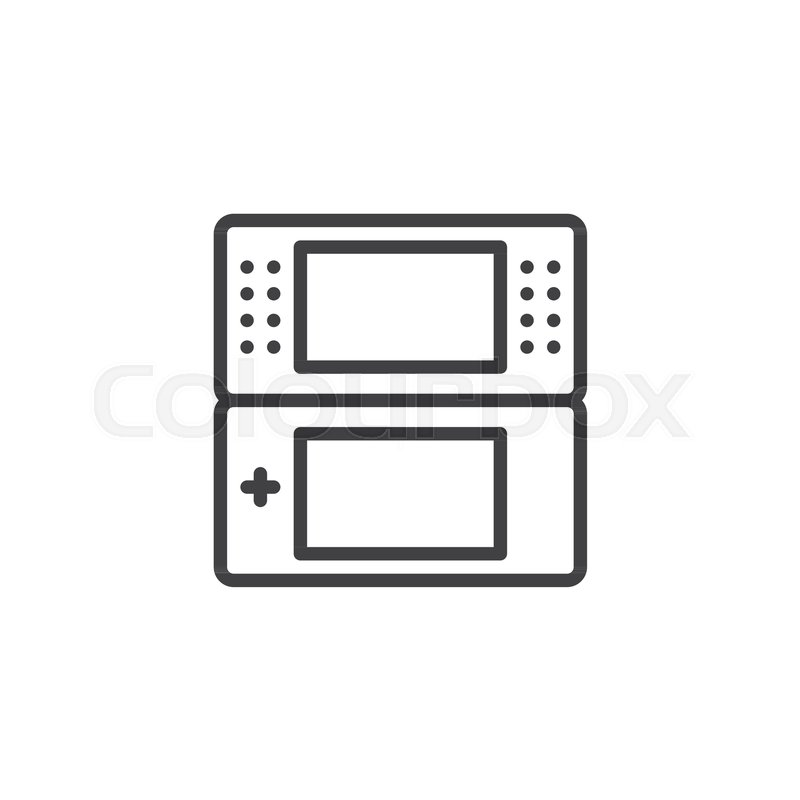 Portable Videogame Console Outline Icon Linear Style Sign For - Video game outline