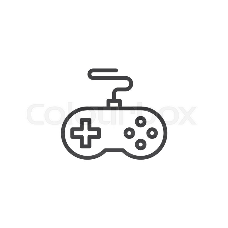 Game Controller Outline Icon Linear Style Sign For Mobile Concept - Game outline