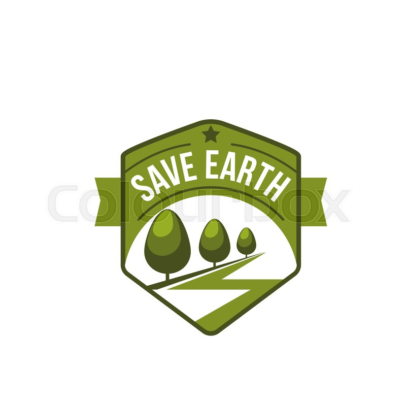 Earth Day World Green Environment Event Icon For Nature And Planet
