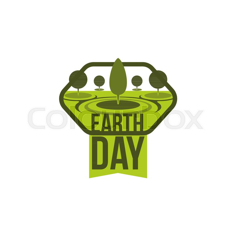 Earth Day Green Nature Trees Icon For Save Planet Environment Conservation Eco Poster Or Banner Design Template Vector 22 April World