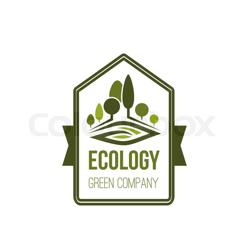 Green Ecology And Nature Environment, Icon For Outdoor Eco Landscaping  Design And City Gardening Company. Vector Green Forest Or Park And Home  Symbol For ...