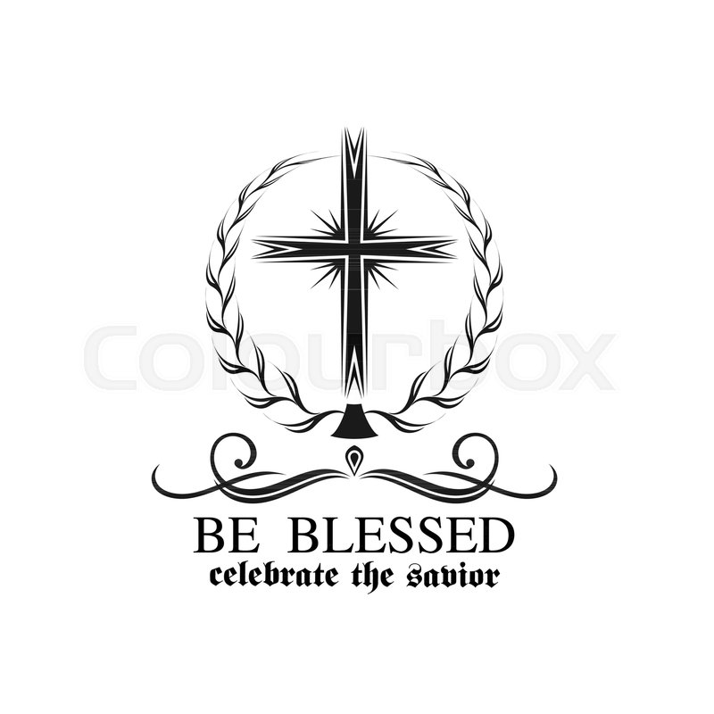 Happy Easter Crucifix Cross Icon For Resurrection Sunday Greeting