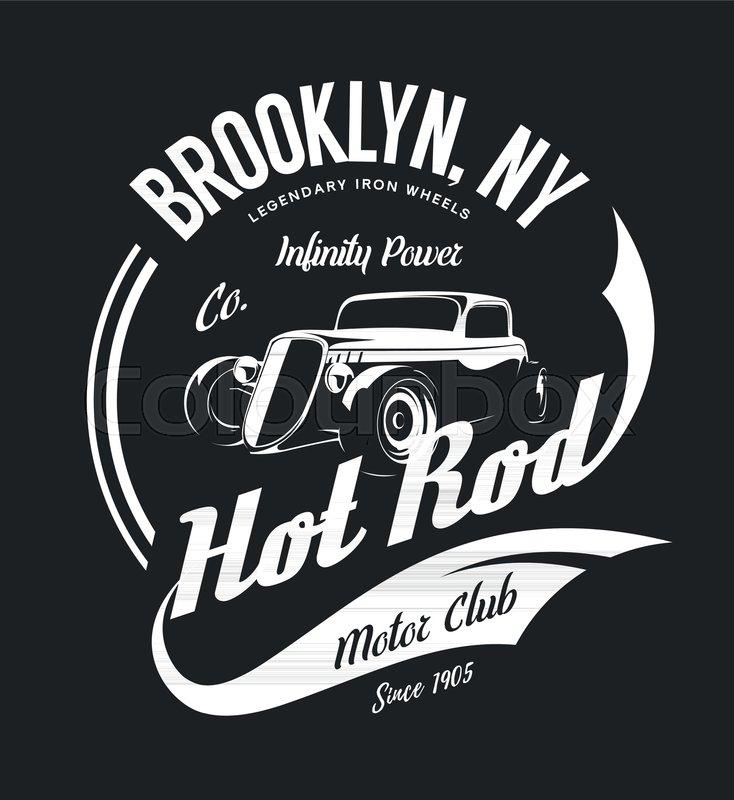 Vintage hot rod vector tee-shirt logo     | Stock vector