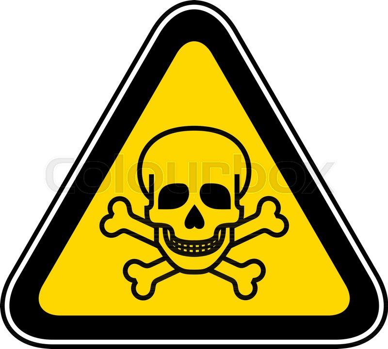 Triangular Yellow Warning Hazard Symbol Vector Illustration Stock