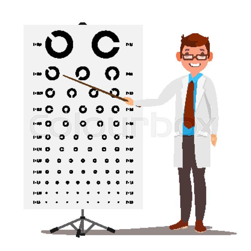 Male Ophthalmology Vector Sight Eyesight Optical Examination