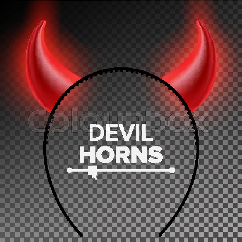 Devil Horns Vector Head Gear Red Luminous Horn Halloween Evil