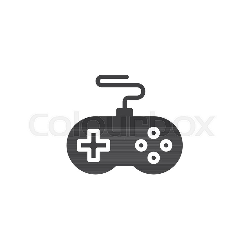 Game Controller Vector Icon Filled Flat Sign For Mobile Concept And
