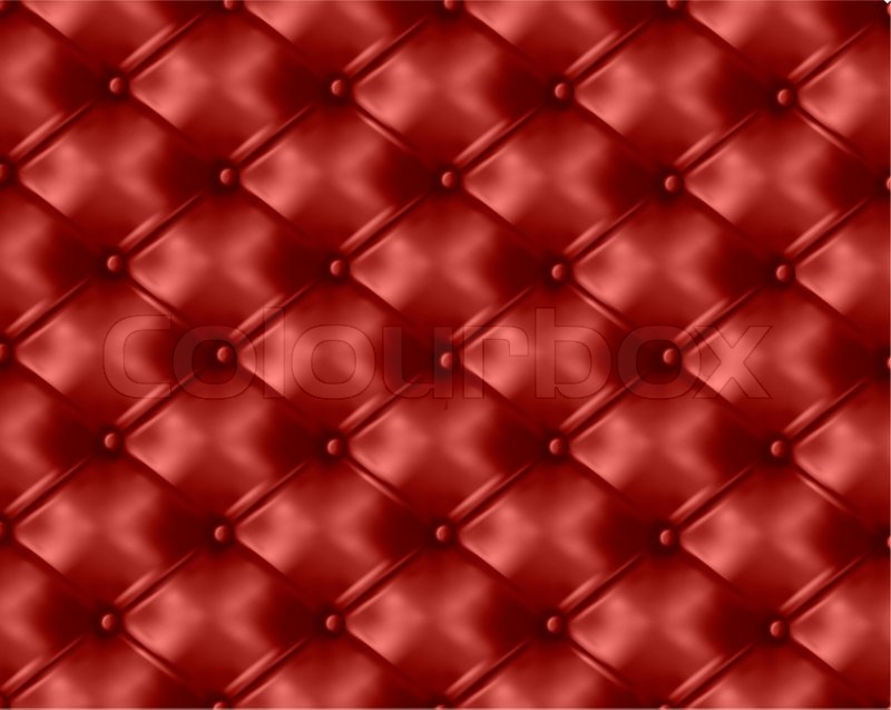 Button Tufted Leather Background, Stock Photo