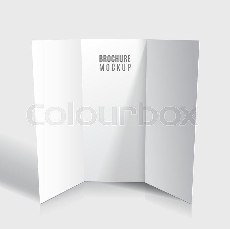 blank tri fold brochure design isolated stock vector colourbox