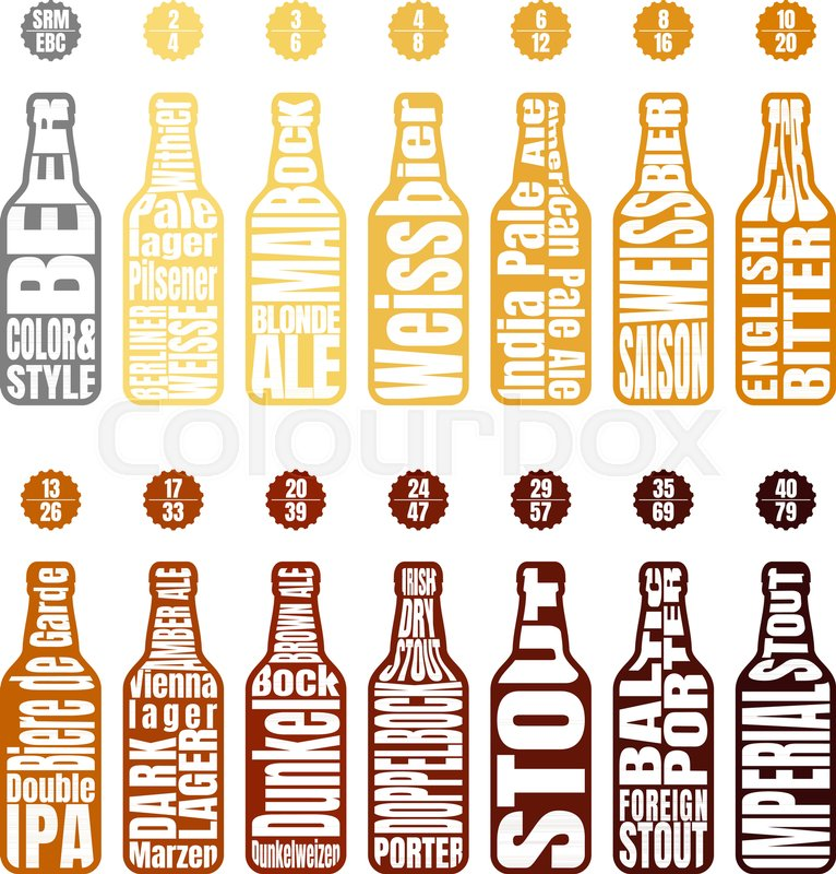 Beer Bottle With Lettering Beer Chart Infographic Of Style And