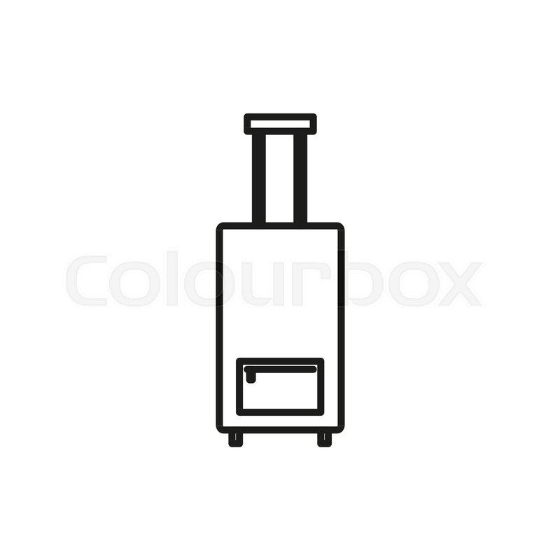 Luggage Travel Adventure Thin Line Icon Symbol Vector Illustration Graphic Design, vector