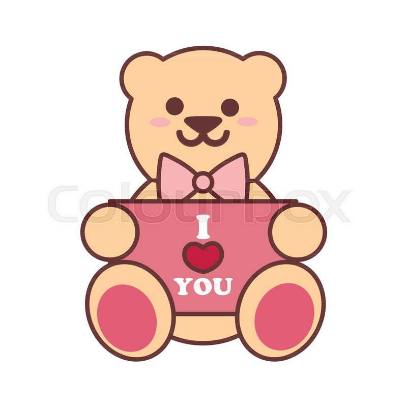 Teddy bear in overalls isolated on white background. cartoon vector  illustration.