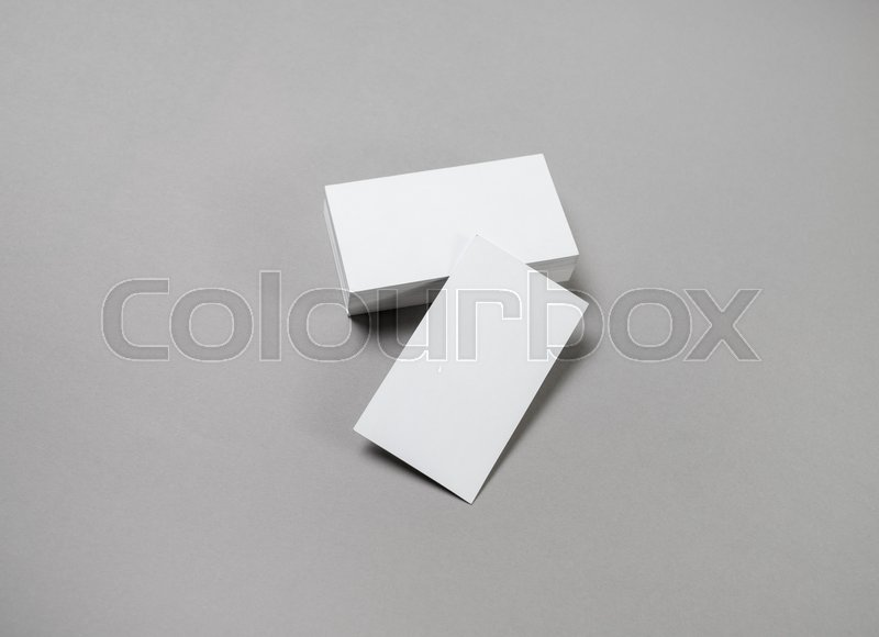 Blank business cards mockup corporate stationery set on grey paper blank business cards mockup corporate stationery set on grey paper background stock photo colourbox reheart Choice Image