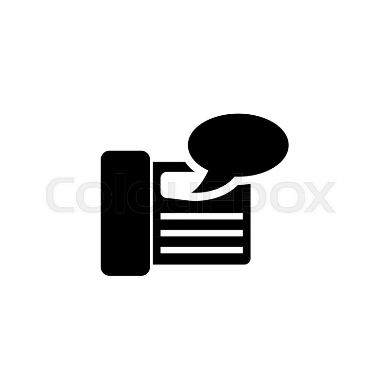 fax machine answering vector icon stock vector colourbox fax machine answering vector icon