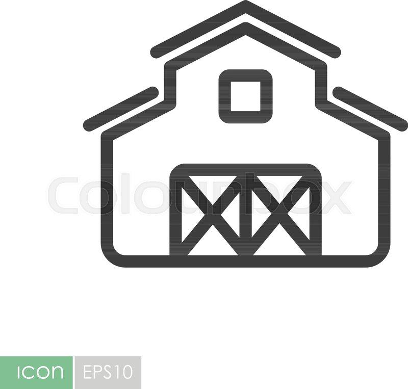 Barn Icon Farm Animal Sign Graph Symbol For Your Web Site Design
