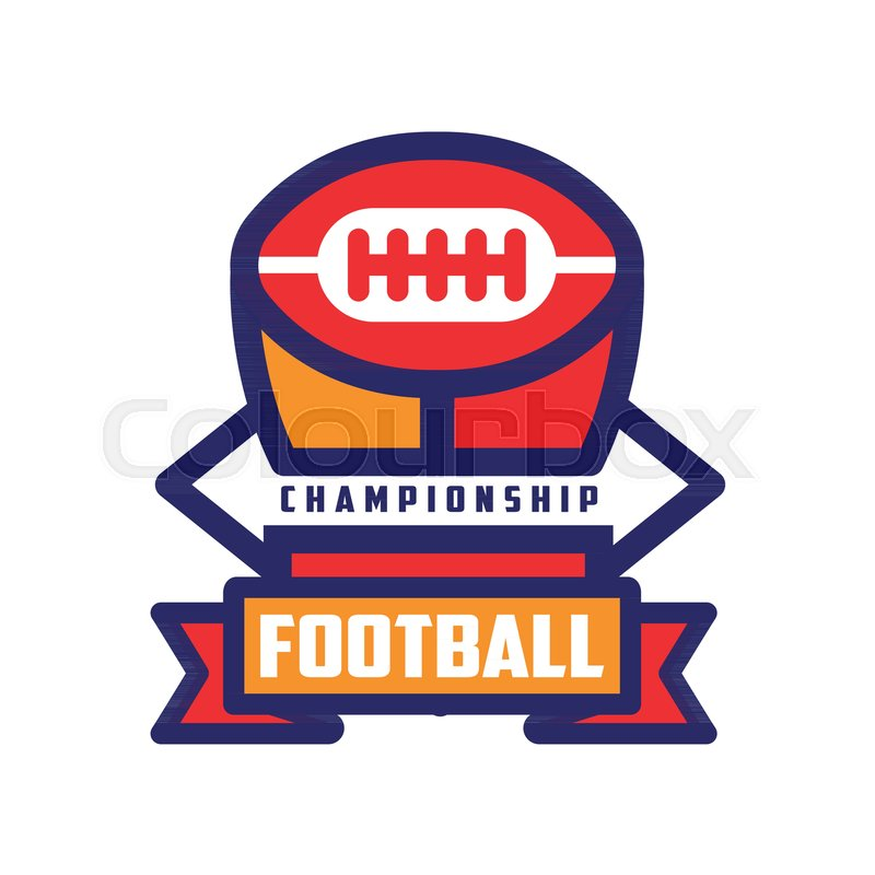 Football championship logo template american football colorful football championship logo template american football colorful emblem sport team insignia vector illustration isolated on a white background maxwellsz