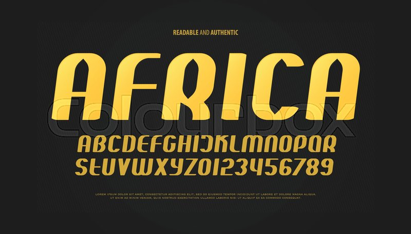 Set Of Italic Style Alphabet Letters And Numbers Vector Oblique Font Type Design Golden Sloping Typeface Inclined Urban Typescript