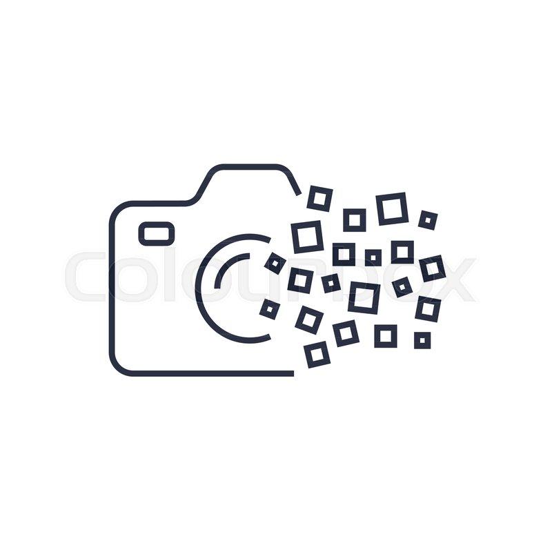 Camera photography logo icon template. Digital camera concept. EPS ...