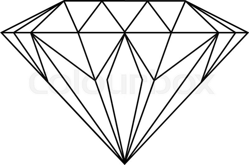diamond drawing stock vector colourbox diamond drawing stock vector colourbox