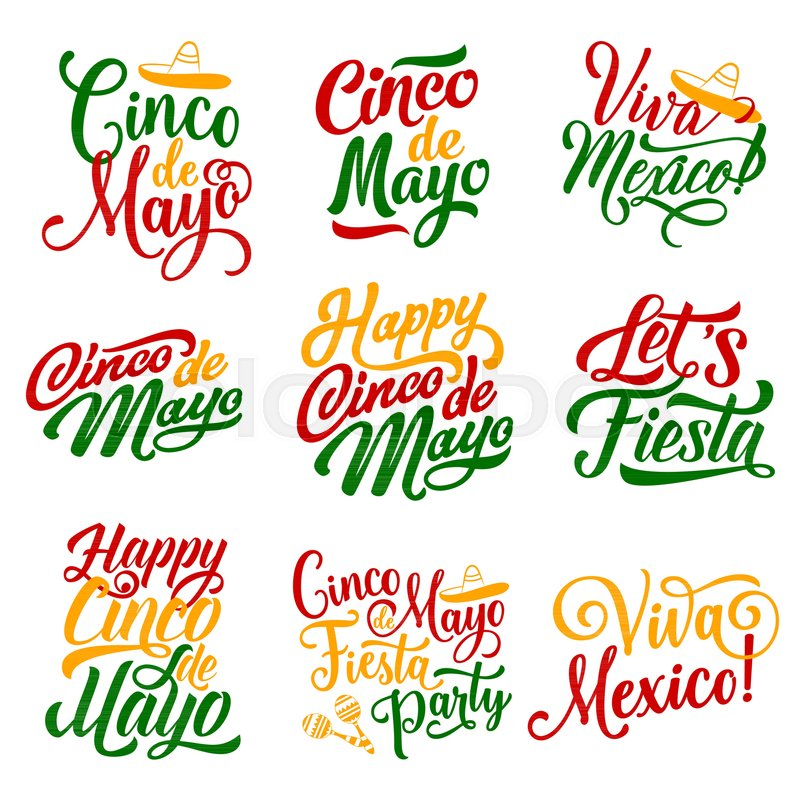 cinco de mayo mexican holiday party celebration calligraphy