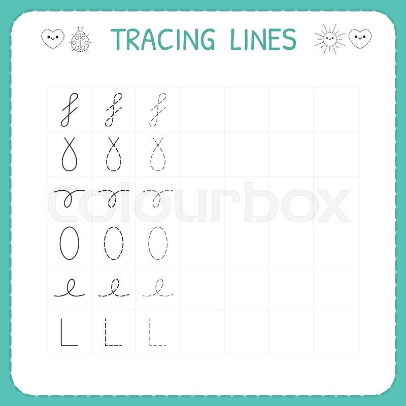 trace line worksheet for kids preschool or kindergarten worksheet trace the pattern basic. Black Bedroom Furniture Sets. Home Design Ideas