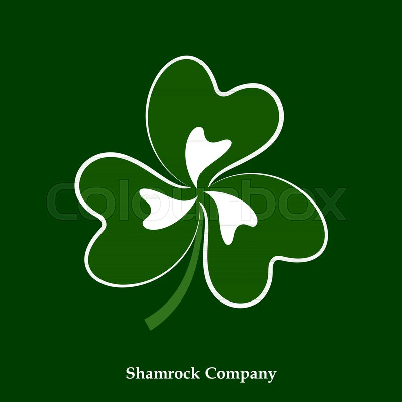 Vector Green And White Leaf Shamrock Icon Clover Symbol For Happy