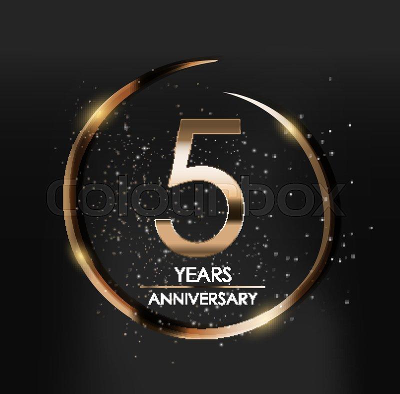 template logo 5 years anniversary