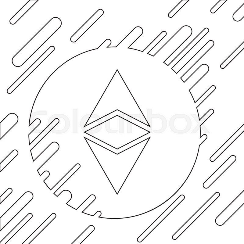 Ethereum Vector Illustration Blockchain Platform Icon Smart Technology Futuristic Style Image