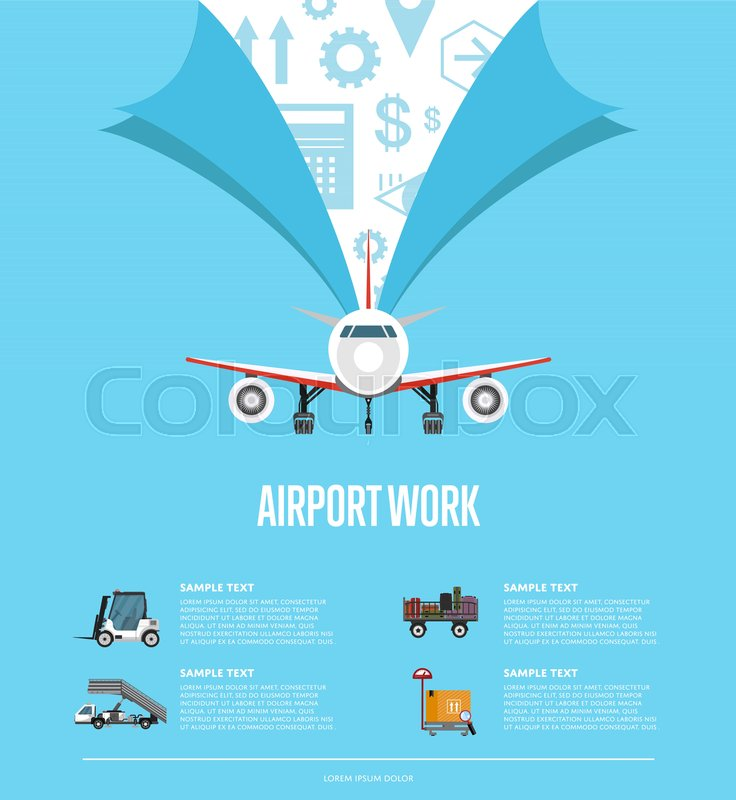 Airport work poster for commercial airline