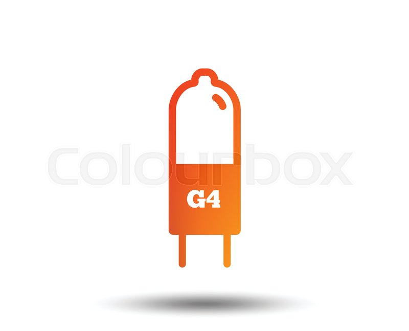 Light bulb icon. Lamp G4 socket symbol. Led or halogen light sign ...