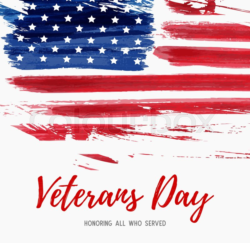 Usa veterans day background vector abstract grunge brushed flag usa veterans day background vector abstract grunge brushed flag with text template for banner greeting card invitation poster flyer etc m4hsunfo