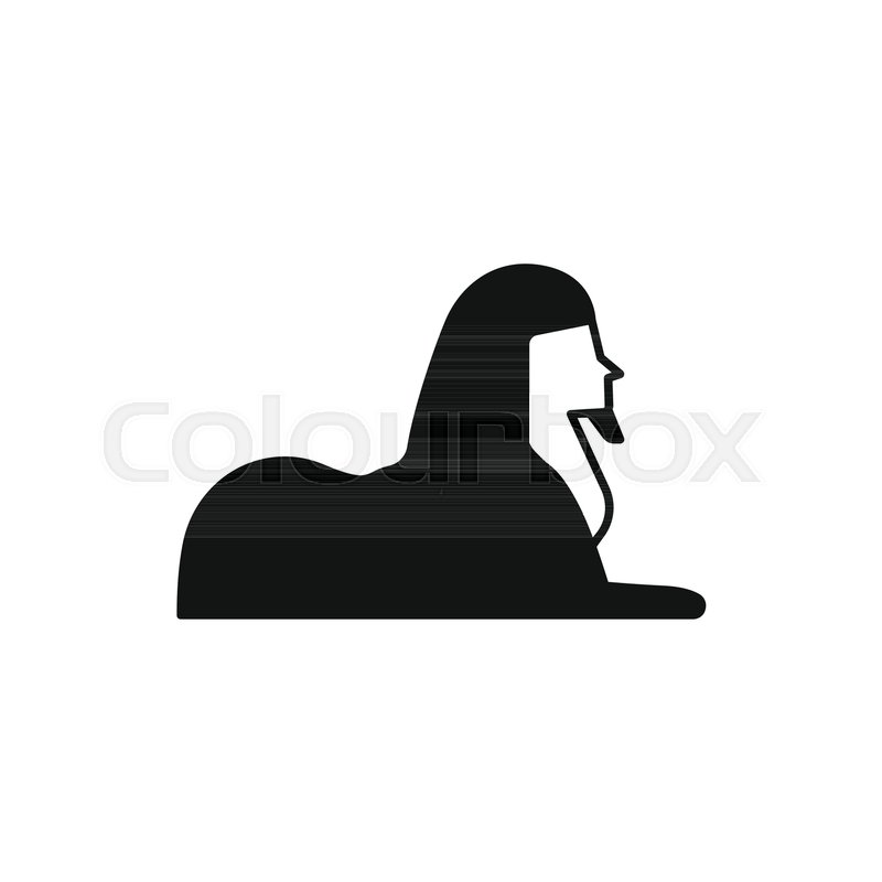 749f22becb979 Egyptian sphinx icon in silhouette ...   Stock vector   Colourbox