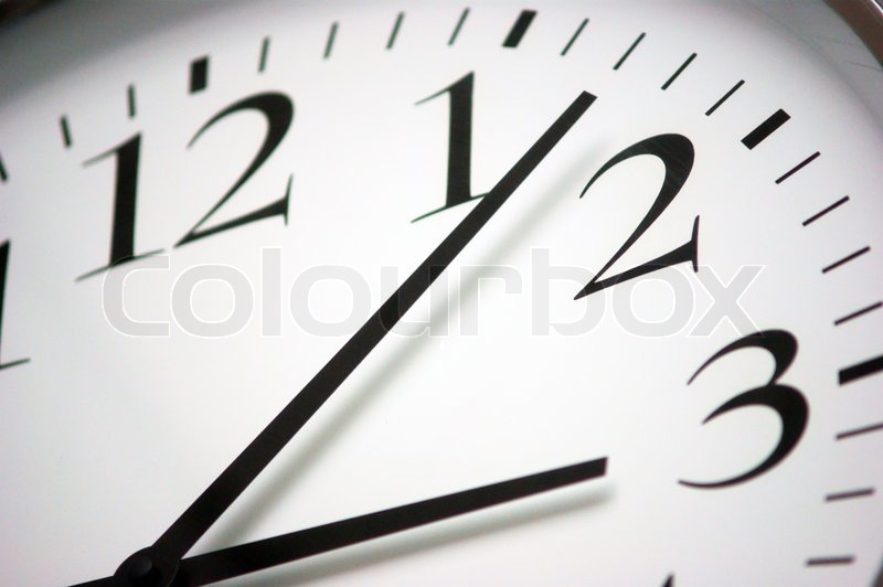 Stock foto af 'Objects clock closeup of round clock'