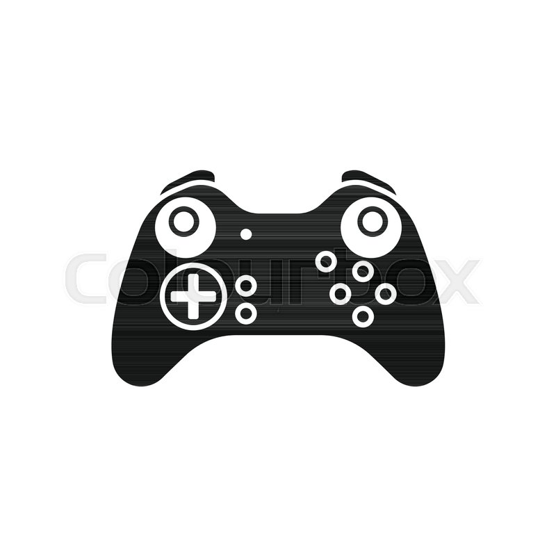 game controller icon silhouette illustration of game