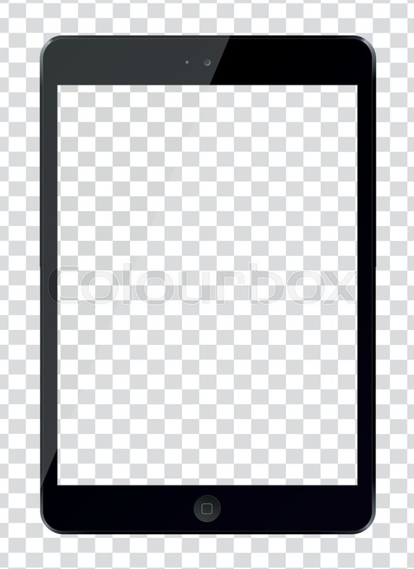 Tablet Pc Computer With Blank Screen Stock Vector Colourbox