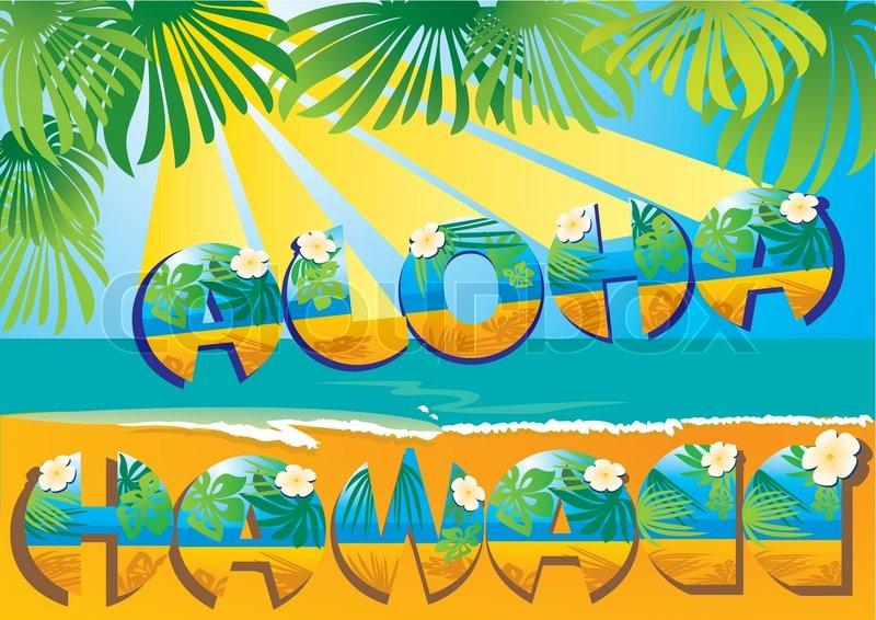 Postcard Aloha Hawaii