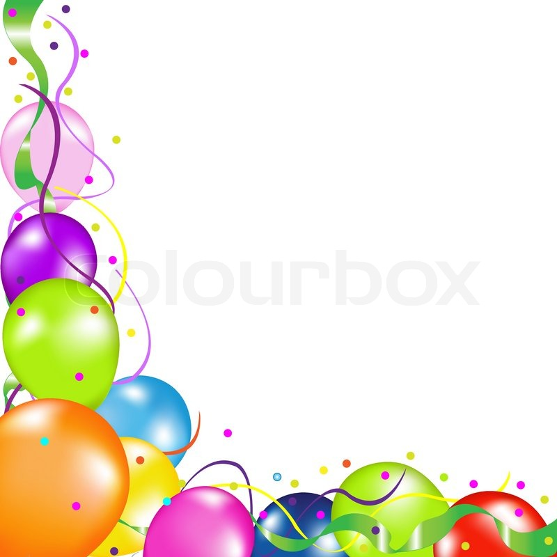 Bunte Party-Ballons, isoliert auf weißem Hintergrund, Vektor ...