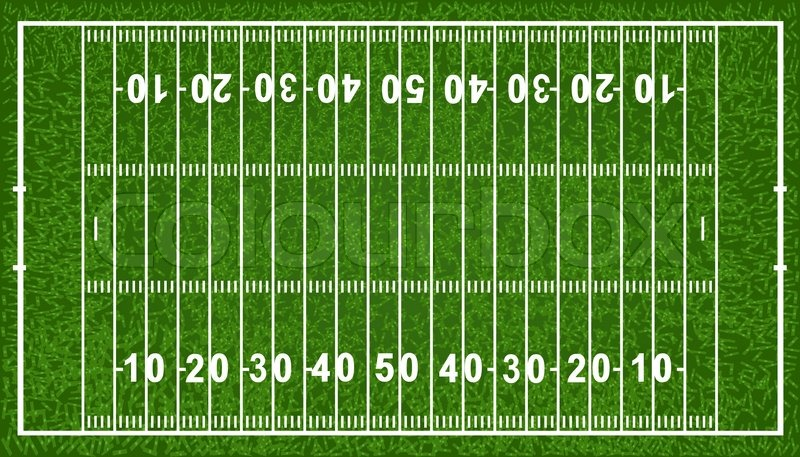 american football field isolated on white background vector rh colourbox com cartoon football field background cartoon american football field