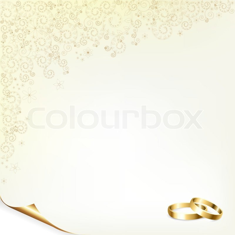 Wedding Background With Gold Rings Stock Vector