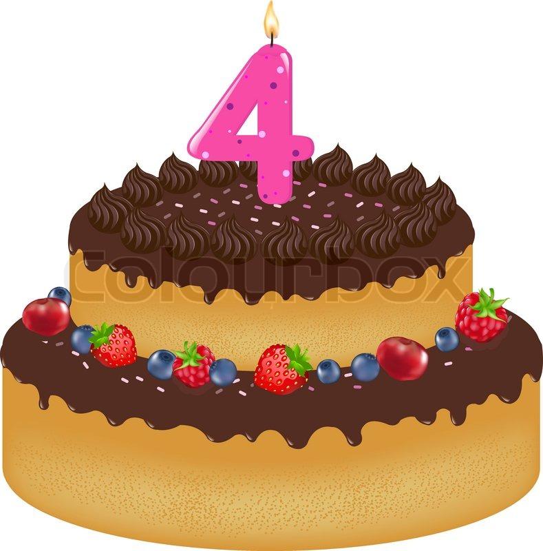 Happy Th Birthday Fancy Cake