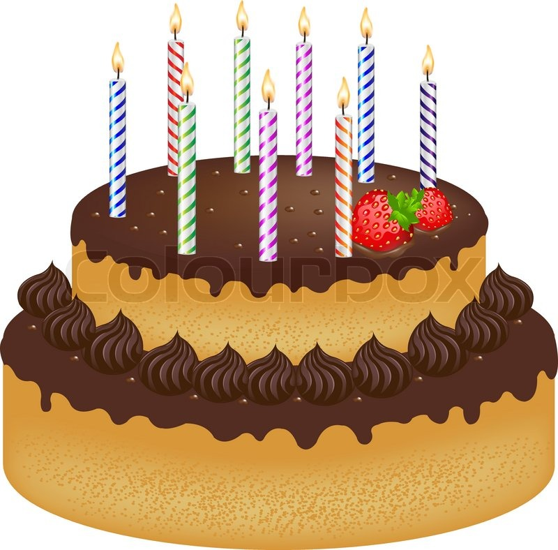 3174159 birthday cake with with strawberry and color candles isolated on white background vector illustration birthday cake photo editor online 3 on birthday cake photo editor online