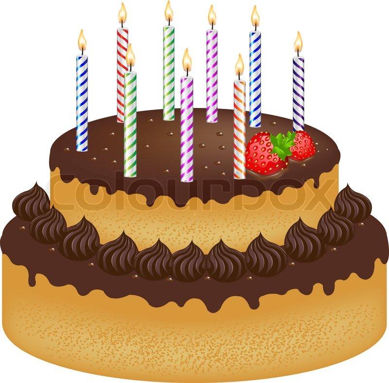 Chocolate Vanilla Strawberry Swirl Cake