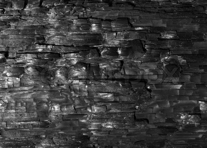 Black Fire Wood Texture