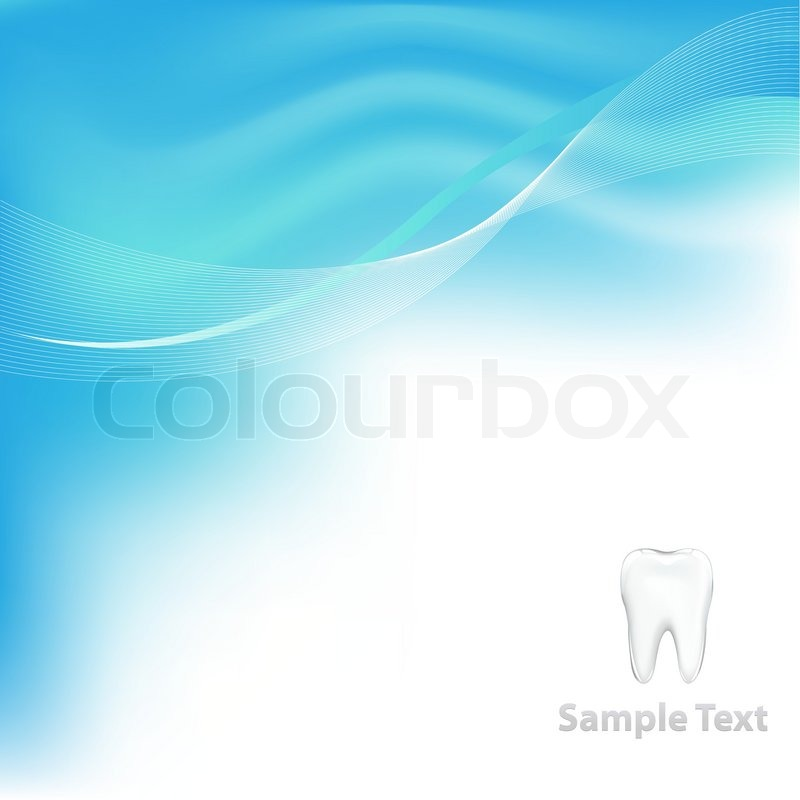 blue dental background with tooth vector illustration